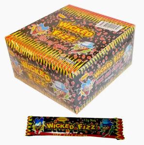 Bulk-Lollies-60-x-Wicked-Fizz-Chews-Cola-Candy-Sweets-Kids-Party-Free-Postage