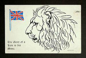 22-May-1915-WW1-Postcard-Lion-Mane-Hanover-House-St-Kensington-Bath-Somerset
