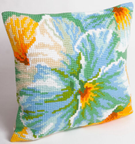 Spring Flower CD5094 Collection D/'Art Cross Stitch Cushion Front Kit