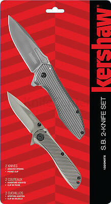 Kershaw 2-knife Combo Set, Assisted Opening w/ Pocket Clips #1320KITX