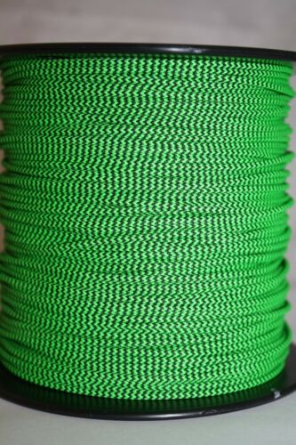 3/' BCY Flo Green /& Black Speckled D Loop Material Bow String Bowstring Archery
