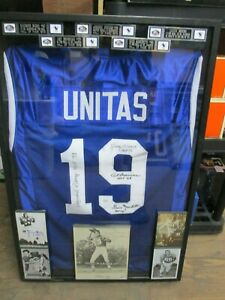Johnny Unitas Jersey Signed by Berry, Moore, Donovan, and Marchetti JSA