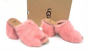 e6065f59b79 Details about UGG Australia ROSA FLUFF Lantana Pink TOSCANA SHEEPSKIN HEELS  WOMEN'S 1095390