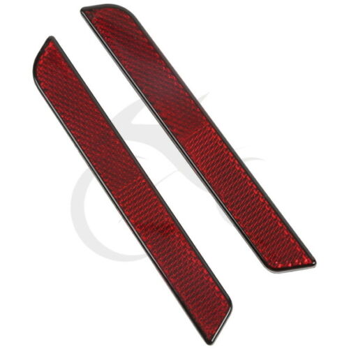 RED Reflectors for Harley Latch Covers Hard Saddlebags Side Visibility 1994-2013