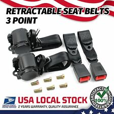 2x 3 Point Safety Seat Belt Straps Heavy Duty Car Truck Adjustable Retractable Fits Toyota