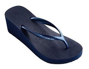 Fashion Navy Blue Wedge Sandal