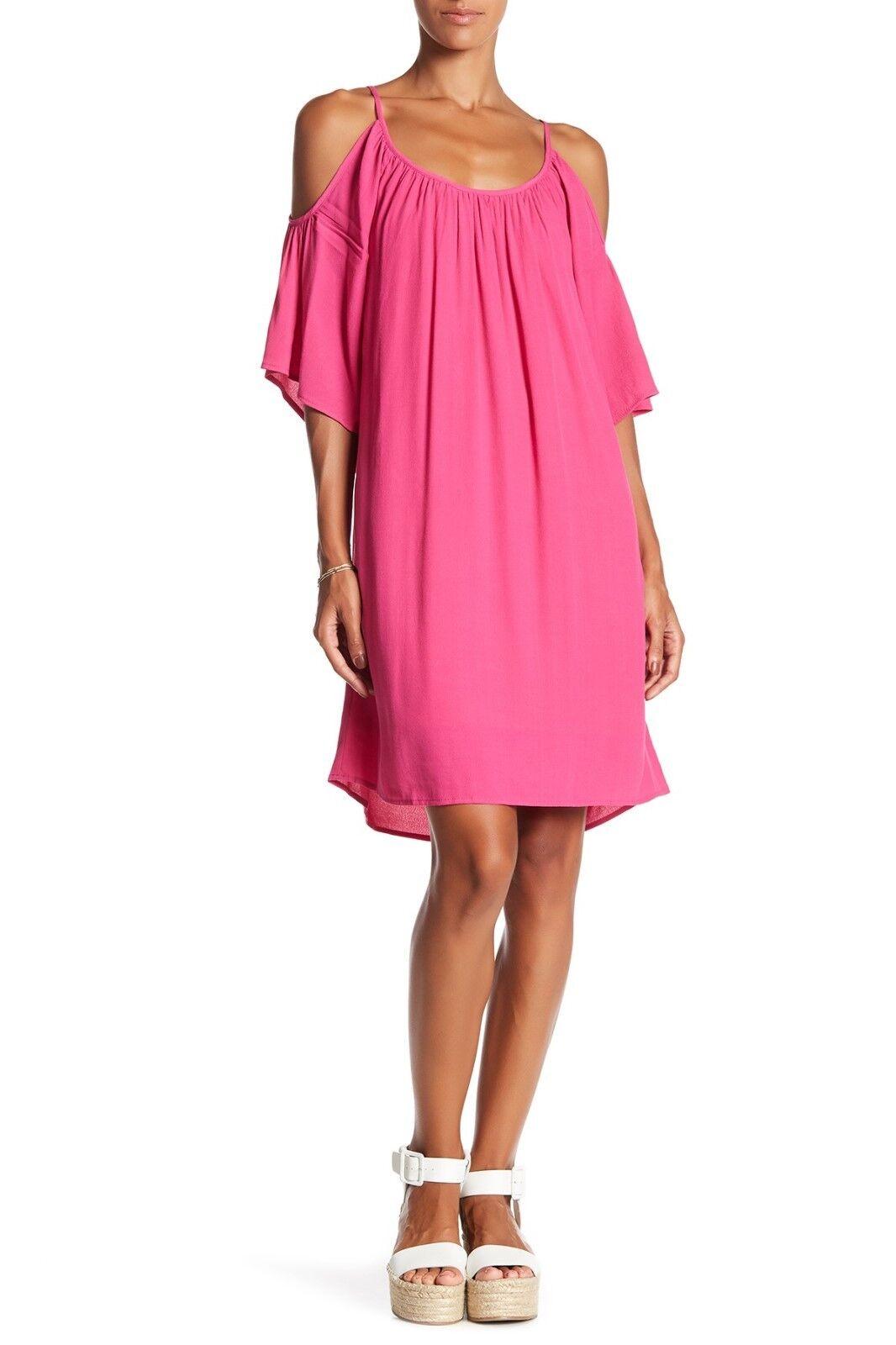 Fifteen Twenty Pink  Cold Shoulder Dress Size Small S
