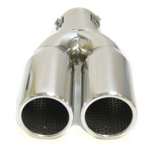 Dual Exhaust Tip Trim Pipe For Toyota Yaris Auris Corolla Aygo Avensis Verso