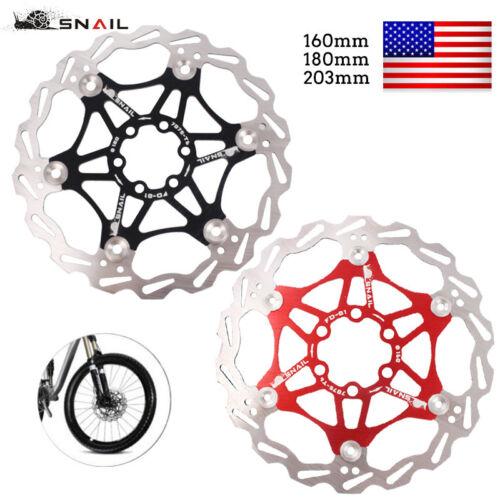 160//180//203mm Stainless Steel MTB Mountain Bike Brake Disc Float Rotor Pad Snail