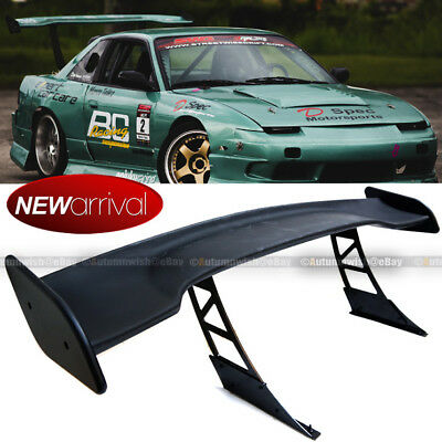 """For WRX JDM 57/"""" GT Style Carbon Fiber Down Force Width Stand Trunk Spoiler Wing"""