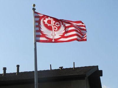 Huge Fallout Brotherhood Of Steel 4 Logo Flag 3 X 5 New California 2 3 5 76 Ebay