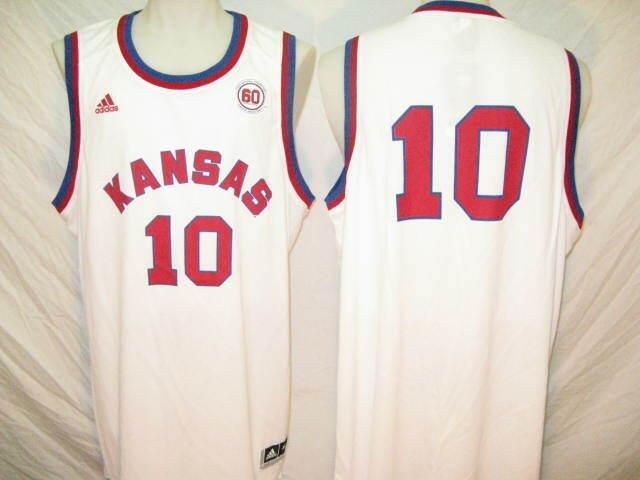 Kansas Jayhawks #10 Mens XL 1952 Throwback adidas Replica ...