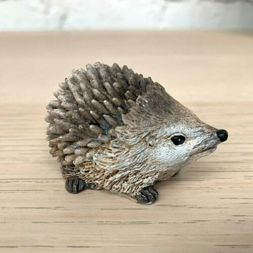 S//2 Miniature Resin Home Garden Lawn Pair Of Country Hedgehogs Figurine Ornament