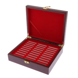 Coin-Holder-Display-Box-Case-Wooden-for-Holds-30pcs-46mm-Coins-Medals-Storage