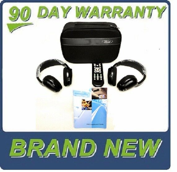 FORD LINCOLN Wireless DVD Infrared Headphones Headset NEW OEM with STORAGE BAG