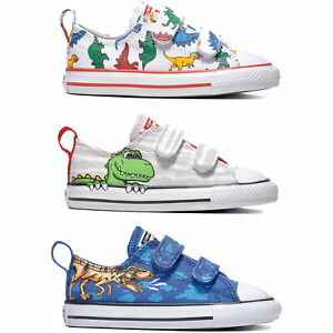 Details about Converse CT Chucks all Star 2V Ox Toddler Shoes Touch Fastener Trainers Boys