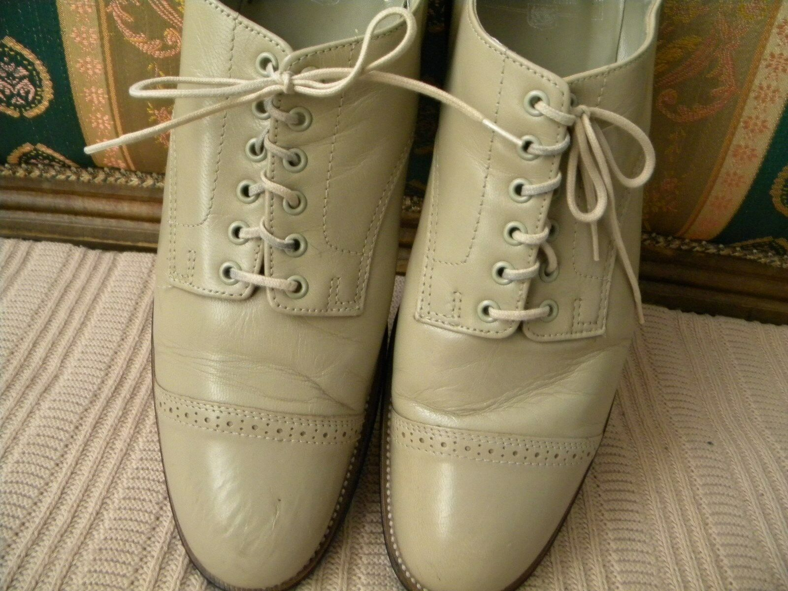 STANY ADAMS Madison Taupe Leather Mens Dress shoes 00012-20 Size -8.5