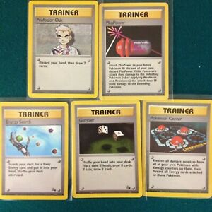 Pokemon Trainer English Version Unused Not Played Lot of 5 Cards