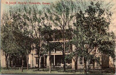 1910 Concordia, Kansas Postcard St. Josephs Hospital