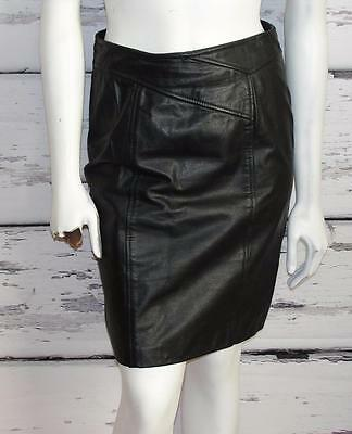 OUT OF BOUNDS~THICK HEAVY LEATHER *HIGH-WAIST* VINTAGE~PENCIL SKIRT (Fits 4-6)