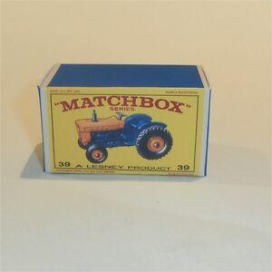 Matchbox-Lesney-39-c-Ford-Farm-Tractor-empty-Repro-E-style-Box
