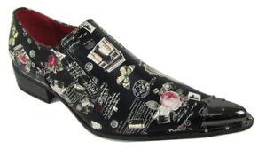 Rossellini Benitez Uomo Scarpe Nero Continental pelle Foderato Metallo a Punta