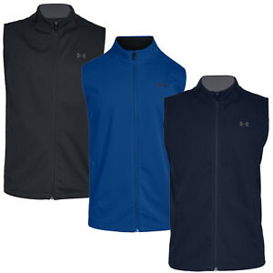 359b307514b25 Under Armour Storm Elements Mens UA Windproof Full Zip Golf Vest ...