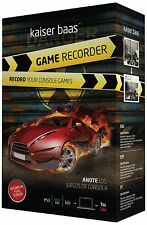 New Kaiser Baas Game Console Recorder - PS3 Xbox 360 and Nintendo Wii Compatible