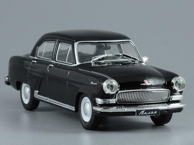 GAZ-21 Black Volga Soviet Luxury Vehicle 1956 Year 1:43 Scale Diecast Model  Car