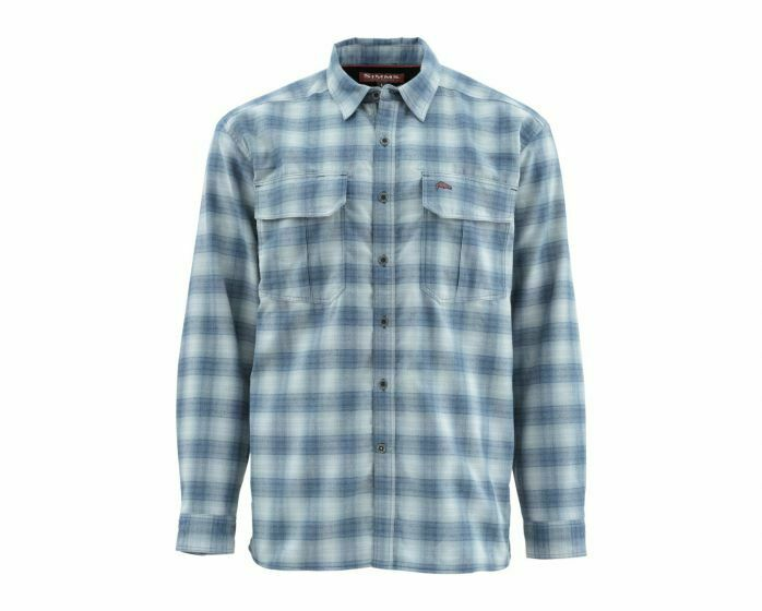 EsMX Camisa de manga larga de Simms-Coldwater-Almirante azul talla XL-fin