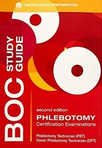 Details about BOC study guide 2nd Ed Phlebotomy ASCP Certification Practice  Exam Prep Phalen