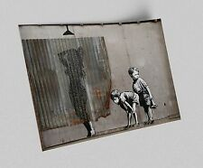 ACEO Banksy Peeping Boys Graffiti Street Art on Canvas Giclee Print