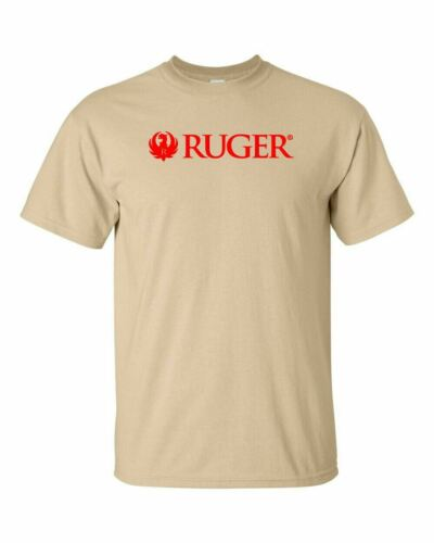 Ruger Script Red Logo T Shirt 2nd Amendment Pro Gun Rights Rifle Pistol Tee New