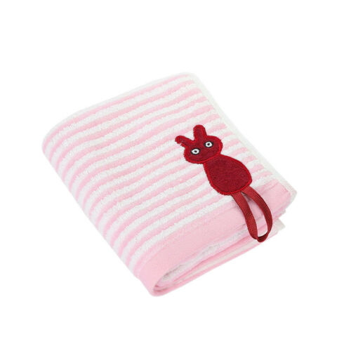 Cotton Embroidered Hook Cat Stripe Portable Absorbent Baby Child Face Hand Towel