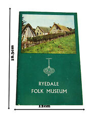 1974 Tour guide Rydale Folk Museum In very good condition for an old paperback