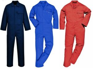 Navy Cotton Flame//Fire Retardant//Resistant Welders Boilersuit Overalls Coverall