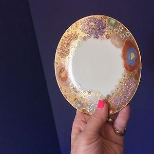Koshida KSH13 Hand Paint Japan 1 Salad Dessert Plate SOLD INDIV 2 AVAIL Gilt VTG