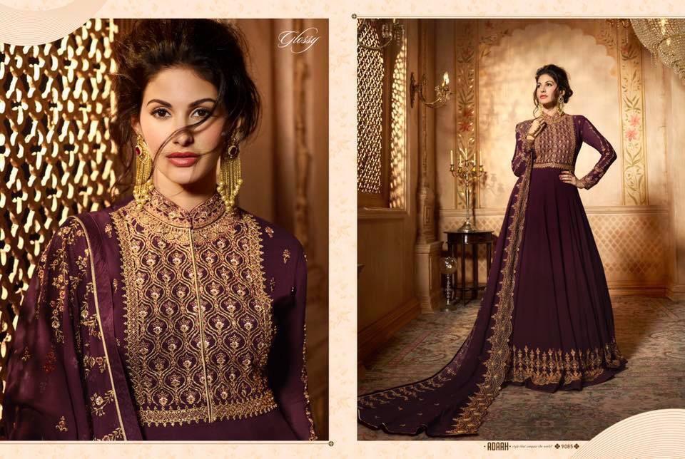 Bollywood Designer anarkali suits Fully Stitched Simar 9085 Anarkali dress EID