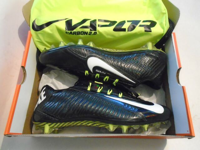 58290801be21 NIB Nike Vapor Carbon Elite 2014 TD Men's 13 Football Cleats Black 631425- 011