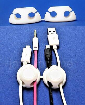 Disciplinato Gumbite Clippi Dual-cable Manager Set Usb, Cuffia, Ingresso Aux, Mouse, Cavi Di Carica- Delizioso Nel Gusto