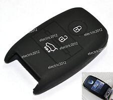 Black Silicone Smart Key Case Cover Holder Fob For Kia 2013 2014 K3 CERATO FORTE