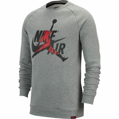 Air Jordan Air Fleece Crew Sweatshirt Black White Red M-4XL