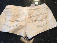 Kohl's So Denim Shortie Off White Low Rise Short Shorts Sz 7 30 Waist $32