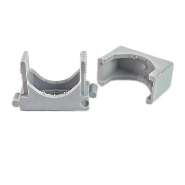 anreihbar für Kabel-Ø 18-30 mm 50 Stück Reihen Druckschelle grau