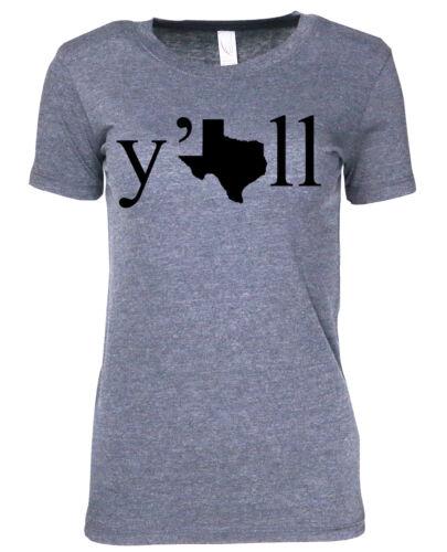 athletic heather womens premium tee tshirt Y/'all Texas Yall shirt