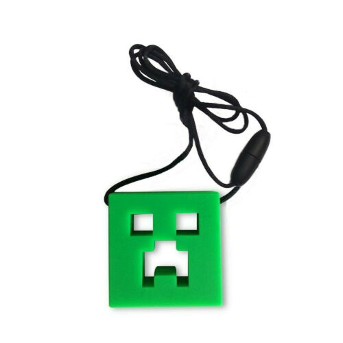 Sensory Chew Necklace Chewelry Autism ASD ADHD SEN Stim Chewy Minecraft