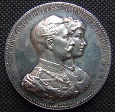 SILBER MEDAILLE PREUSSEN, Wilhelm II.und Auguste Victoria Ehejubiläum, 1888