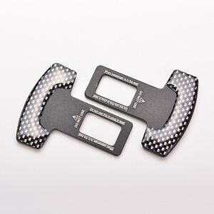 1-paire-de-fibre-de-carbone-voiture-ceinture-securite-boucle-d-039-alarme-pince-F