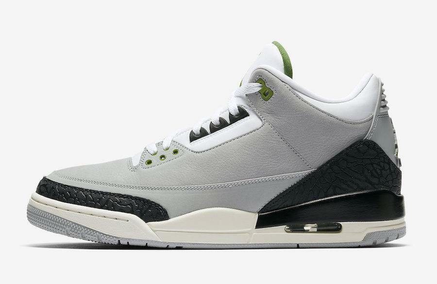 Air Air Air Jordan Retro 3 III Chlorophyll Tinker Light Smoke grigio nero Sail 136064-006 704e91