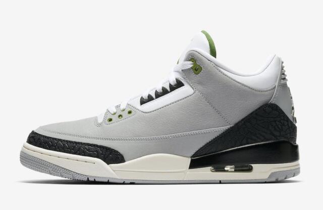 371a3bb57ee044 W box Nike Air Jordan 3 Retro Chlorophyll Men Size 9.5 136064 006 ...